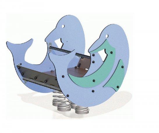 Bujak sprężynowy na plac zabaw Delfin Dawid J981