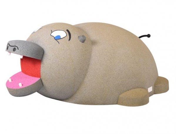 Gumowa figura na plac zabaw Hipopotam