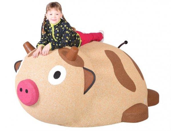 Figura gumowa na plac zabaw Krowa
