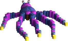 Figura gumowa na plac zabaw Ośmiornica